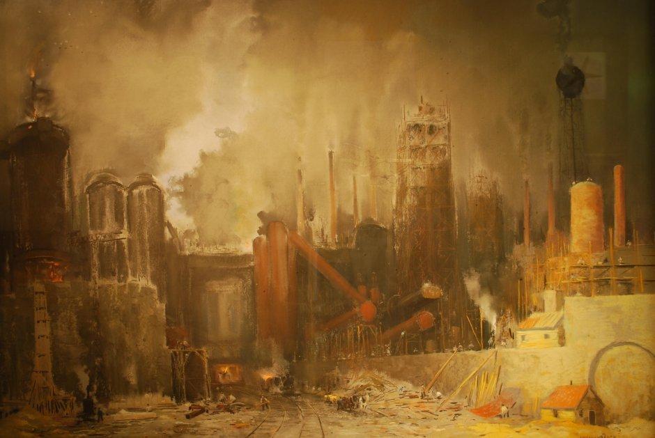 herman-heijenbrock-6-hoogoven-in-lotharingen-pastel-collectie-corus-nr-156