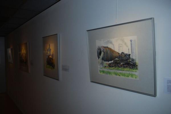 kunst van André Gouw  in de tijdlijn van het Hoogovensmuseum