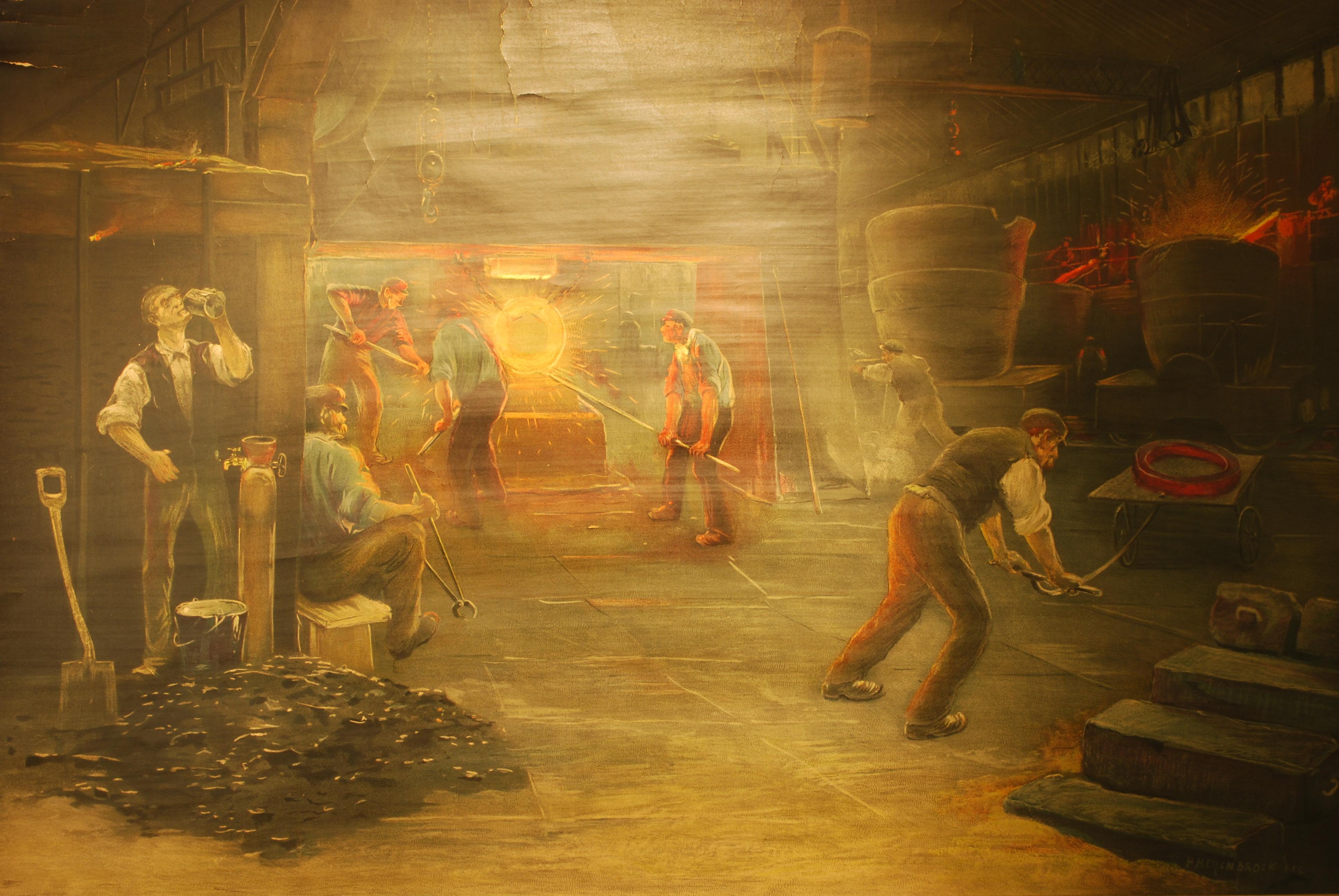 herman-heijenbrock-8-poster-staalfabriek-met-stoomhamer-wandplaten-nr-5